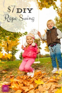 Make This Quick DIY Rope Swing for only $7.00! Frugal Baby Saving Money http://catherinealford.com/2014/06/17/diy-rope-swing/