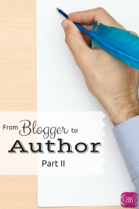 Have you ever wanted to know what it takes to go from blogger to author? Here we interview one blogger who did just that. https://www.catherinealford.com/2015/02/23/go-from-blogger-to-author-part-1/