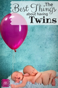 As I'm awake tonight, at midnight, it is easy to become overwhelmed, but there really are some great things about having twins!