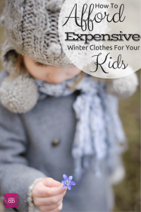 How to Afford Expensive Winter Clothes For Your Kids